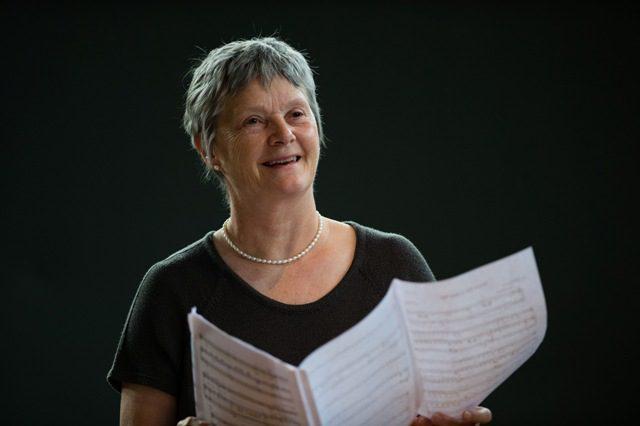 Liza Hobbs, vocal singing coach tutor at MusicFest Aberystwyth, 2015